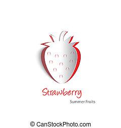 Strawberry paper cutout - Paper cutouts of a plump...