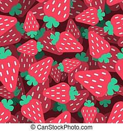 Strawberry pattern seamless. Berry background. summer texture. Vector Ornament?