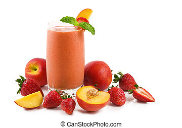 Strawberry peach smoothie