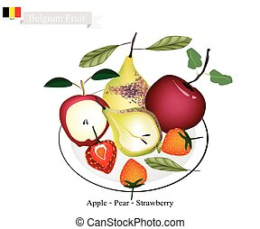 Strawberry, Pear and Apple, The Popular Fruits of Belgium
