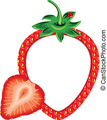 Strawberry Photo Frame - Scalable vectorial image...