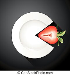Strawberry Pie Chart.