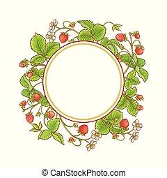 strawberry plant vector frame