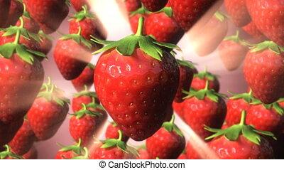 Strawberry Rain Amongst Light Rays