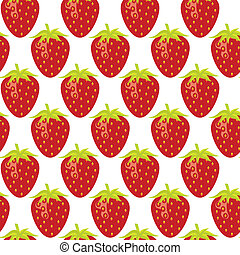 strawberry repeatable seamless pattern