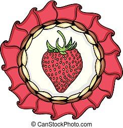Strawberry round label