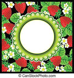 Strawberry Scrapbook Photo Frame