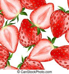 Strawberry. Seamless pattern 6