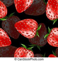 Strawberry. Seamless pattern