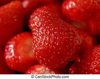 Strawberry so close