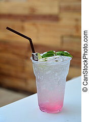 Strawberry soda , Summer beverage