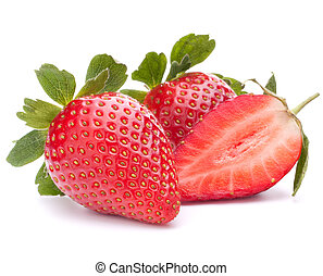 Strawberry isolated on white background cutout