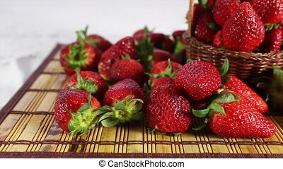 Strawberry - A bunch of strawberry on the table.