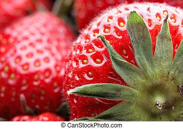 Strawberry super close up
