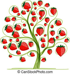 Strawberry tree for your design