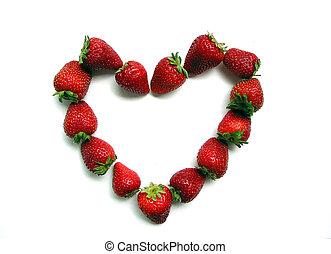 Strawberry Valentine's Heart - valentine's heart made from ...