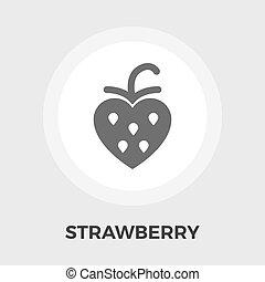 Strawberry vector flat icon