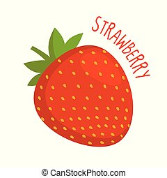 Strawberry vector illustration isolated