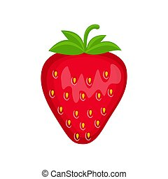 Strawberry vector illustration isolated on white background.