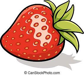 Strawberry - Vector illustration of fresh, ripe strawberry ...