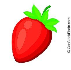 Strawberry Vector illustration on white background