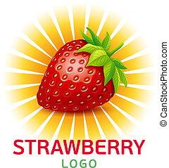Strawberry vector logo.