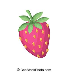 strawberry with seeds of a pink color