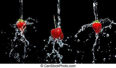 strawberry&cherry