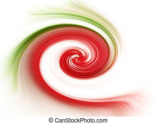 strawbery wave mix - crumpled abstract illustration of red...