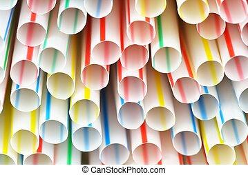 Straws - Many colorful drinking straws