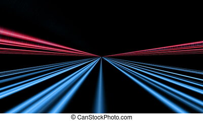 Streaks of  light. Abstract