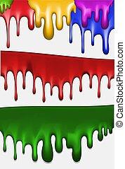 Streaks of paint. Vector illustration.