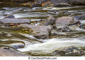 Stream and Rocks in Autumn - Ontario, Canada