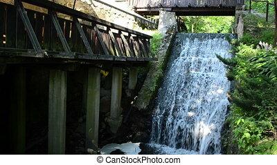 stream flow cascade mill