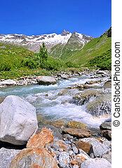 stream in alpine valley
