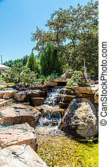 Stream in Formal Rock Garden