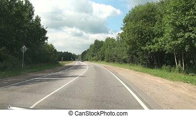 Stream of cars