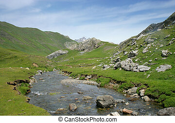 Stream on a mountain top