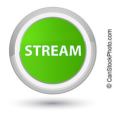 Stream prime soft green round button