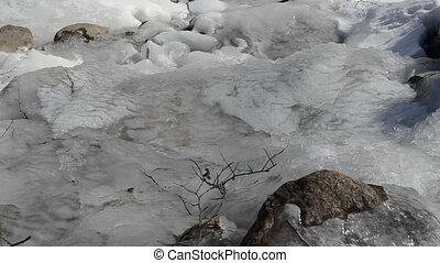 stream water ice frozen
