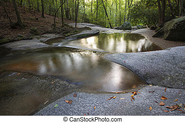 Stream with pools of water - Pools of water on rocks in ...