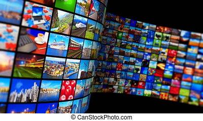 streaming, media, technologie, en, multimedia, concept
