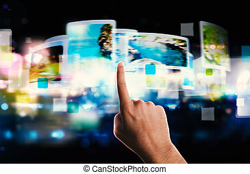 Streaming screen technology - Futuristic touch screen...
