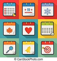 Streamline icons set, flat style - Streamline icons set....