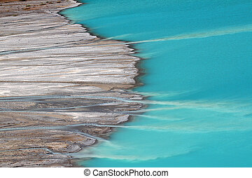 Streams feed Peyto Lake