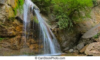 Streams Of Beautiful Waterfall Dzhur Dzhur In Motion