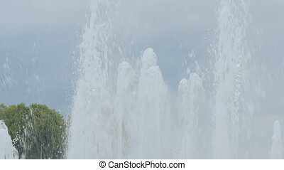 Streams of water from fountain - Streams of water from big...