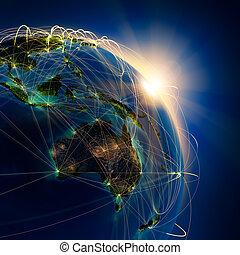 strecken, haupt, australia, ozeanien, luft