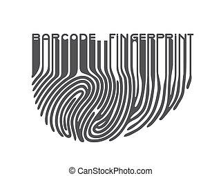 streepjescode, black , vingerafdruk