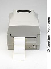 streepjescode, etiket, printer